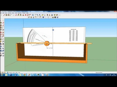 How to make a DIY arrow spine tester tutorial in Google Sketchup