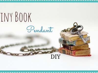 How to make a Miniature Book Pendant, Anthropologie Knock Off
