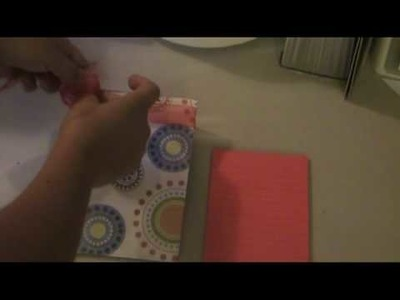How to make a note pad using a 5x7 clear frame with scrapbook supplies