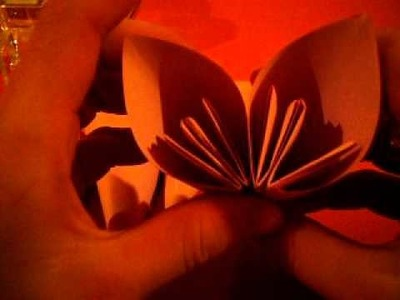 How to make a origami kusudama flower