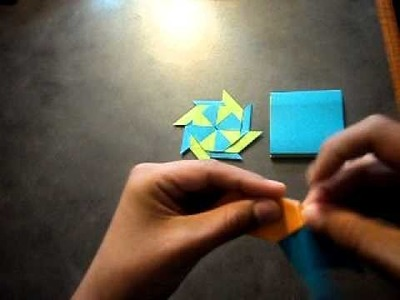 How to make a origami transforming ninja star