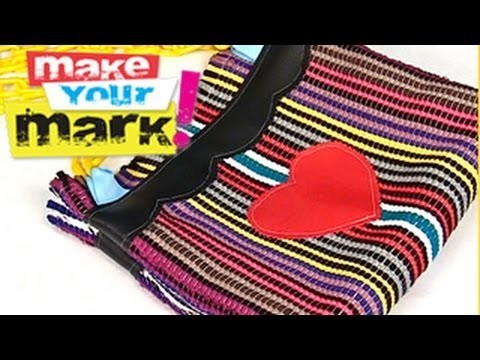 How to make a Rag Rug Tote Bag DIY