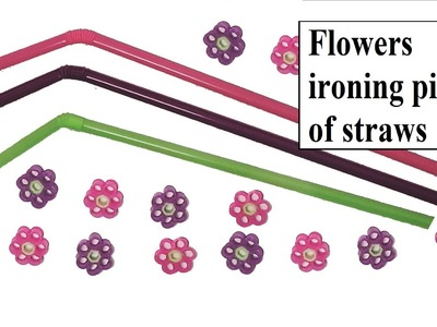 How to make flowers with straws. Without using hama beads.Easy method of ironing.