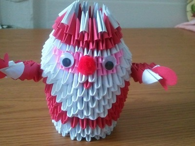 How to make Santa Claus 3D origami, part 1
