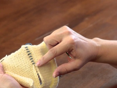 How to Sew an Overcast Stitch in Knitting : Advanced Knitting Stitches
