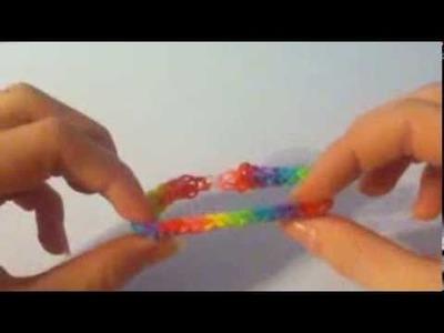 Inverse Fishtail Rainbowloom Bracelet
