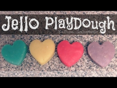Jello Playdough - How To - Easy DIY PlayDoh