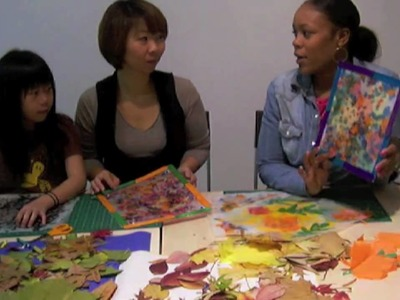 Kids Crafts:  Fall Leaves Stained Glass