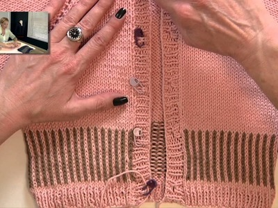 Knitting Help - Placing Buttons