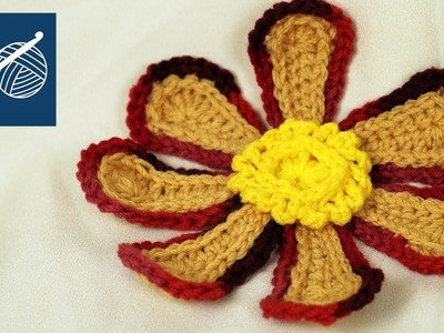 LARGE CROCHET FLOWER - Left Hand Crochet Crochet Geek