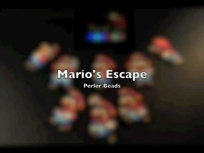 Mario's Escape - Perler Bead Sprite Stop Motion Video using Bead It! HD