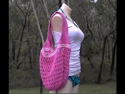 Market Bag 1 Handle Crochet Tutorial