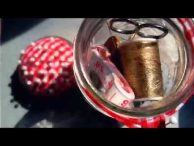 Mason Jar Sewing Kit - Easy DIY Tutorial