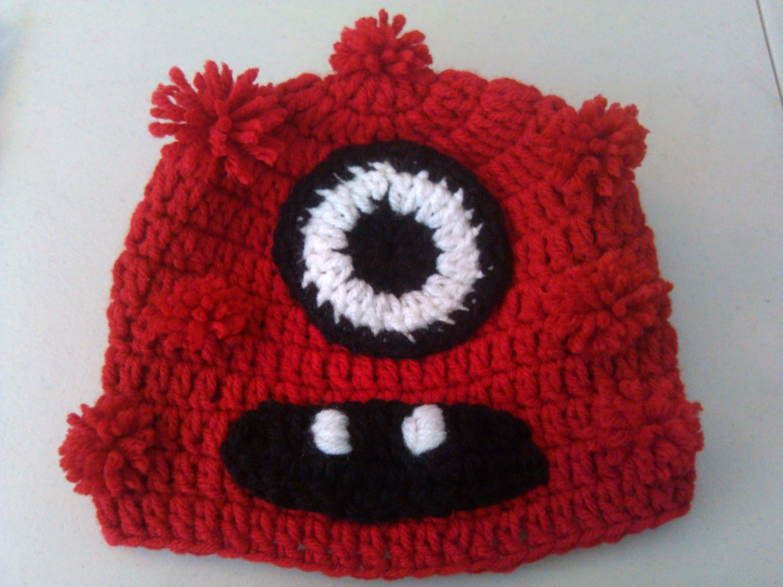 One eye red monster beanie