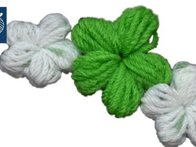 Puff Stitch Crochet Flower Left Hand