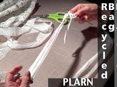 Recycled Plastic Bag Yarn Knitting