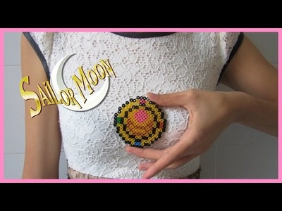 Sailor moon Transformation bunch PYSSLA-Hama beads, Spilla lunare Sailor Moon in pyssla