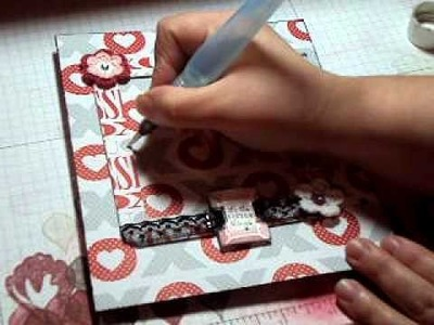 Scrapbooking Stampin Up Shimmer Paint Technique