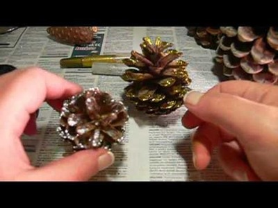 SheBlogs.eu Crafts - Christmas Pinecones with glitter