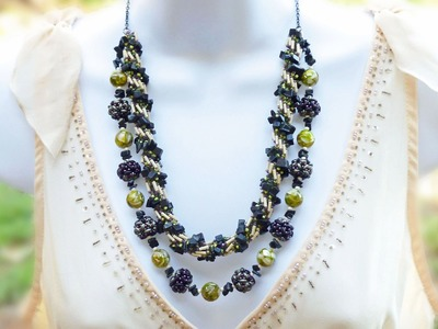 TheHeartBeading: Double Layer Necklace Tutorial