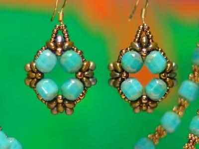 Turquoise Baroque Earrings Tutorial