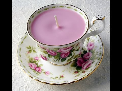 Tutorial : How to Make Soy Candles in Vintage Teacups
