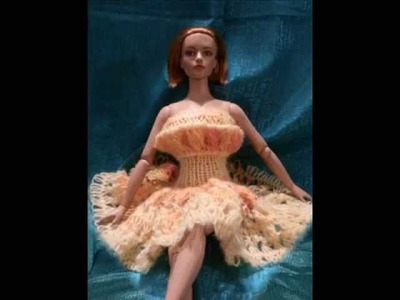 Tyler Wentworth and Robert Tonner Dolls modeling Knitted.Crocheted Fashions.