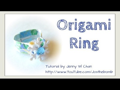 Valentine's Day Crafts-Origami Ring - How to Fold Origami Ring - Easy Paper Crafts - Kids Jewelry