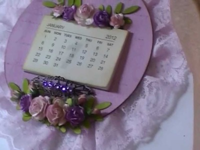 Wall Hanging using 2 Cds and WOC flowers
