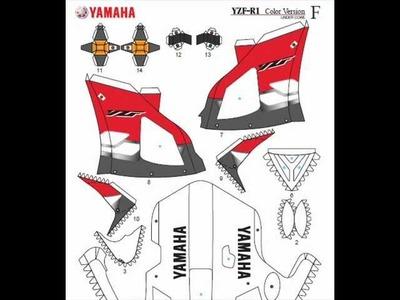 Yamaha YZF-R1 Papercraft Templates - Build Ownl Papercraft Tutorial