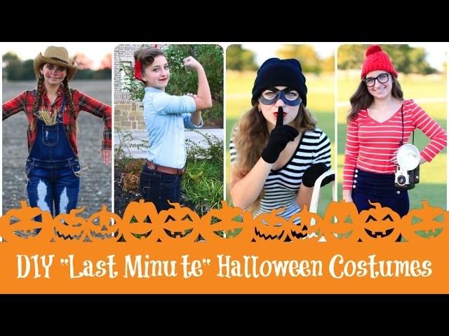 4 DIY Last-Minute Halloween Costumes | Brooklyn & Bailey