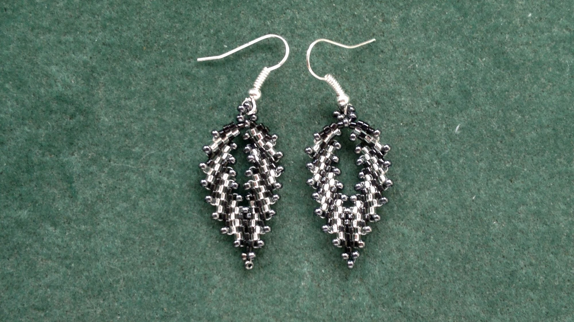 Beading4perfectionists : Russian leaf with delica beads earrings video version beading tutorial