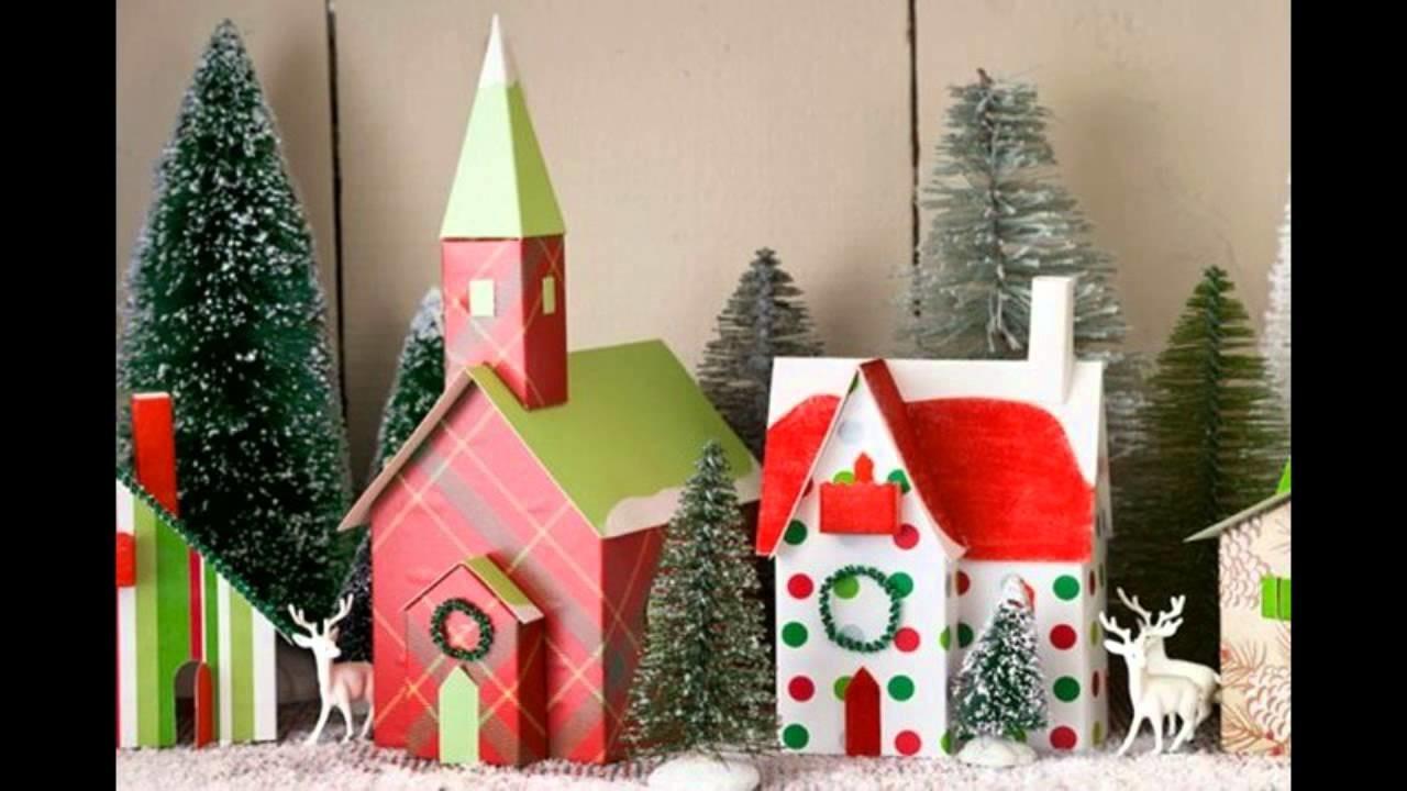 делаем новогодние домик своими руками