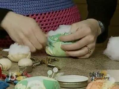 CraftSanity on TV: Making pincushions