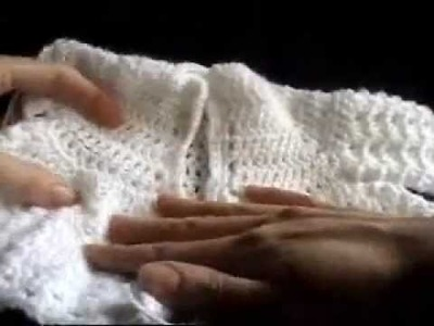 Crochet Baby Imagination Sweater V-Stitch Part 3 of  3
