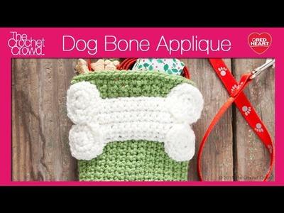 Crochet Dog Bone Applique