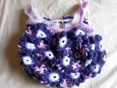 Crochet Flower Purse Dark Purple