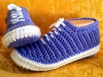 Crochet slippers pattern easy