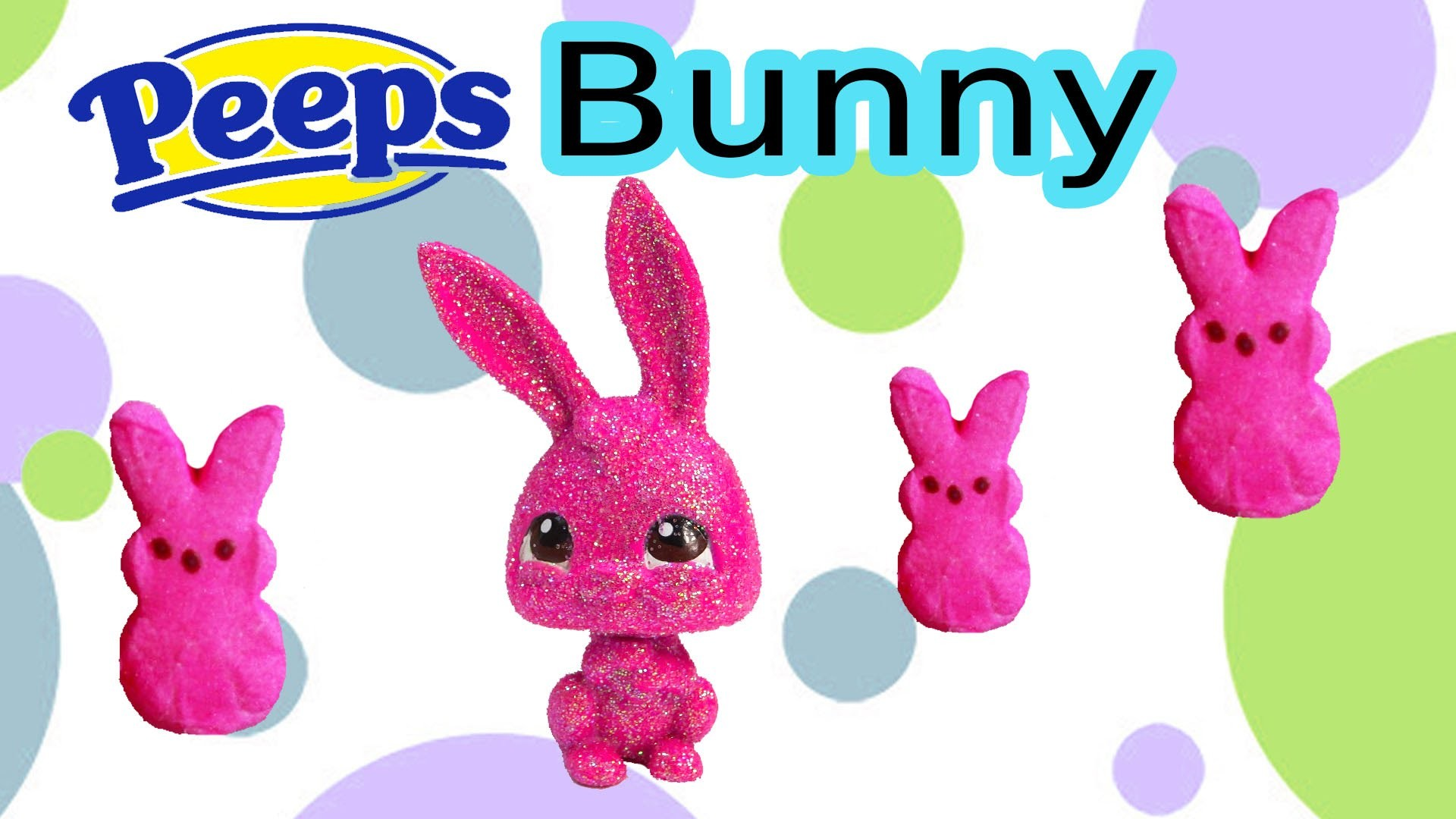 Custom LPS Easter Sugar Marshmallow PEEPS Bunny Chocolate Glitter Candy DIY Littlest Pet Shop Craft