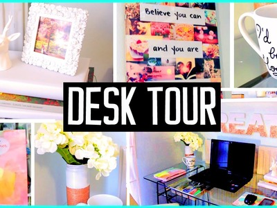 Desk tour! What's in my desk! DIY decor & organization ideas