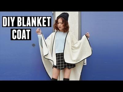 DIY Blanket Coat & LA Winter Outfits