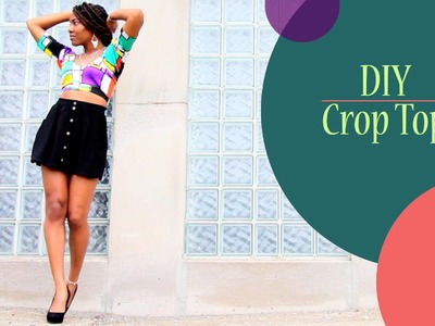 DIY Crop Top EASY (No Sewing)