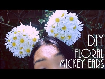 DIY Daisy.Floral Mickey Mouse Ears