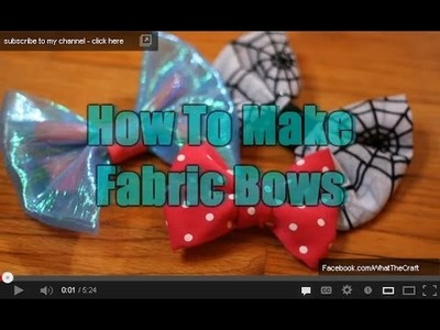 DiY Fashion - How To Sew Fabric Bows
