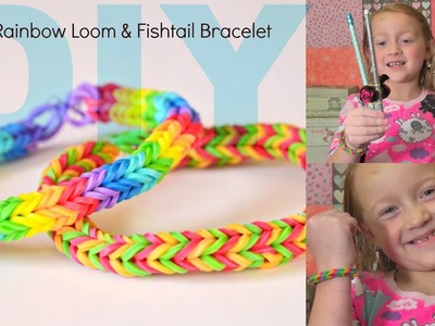 DIY Fishtail Rubberband Bracelet DIY rainbow loom