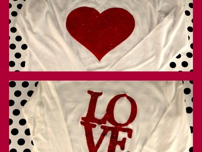 DIY: Glitter Painted T-Shirt DIY | ShowMeCute