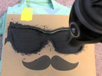 DIY✄: Mustache shirt
