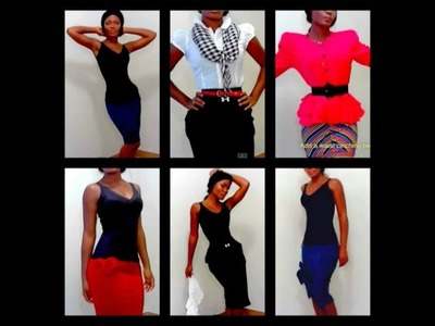 DIY Shirts to Skirts in Seconds NO SEW!!!
