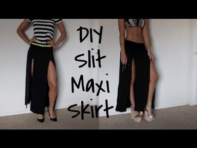DIY| Slit Maxi Skirt (And Styling it!)