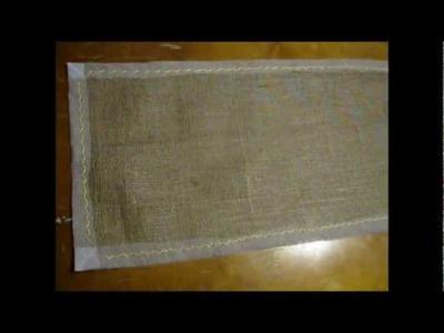 DIY Small Burlap Tablecloth | BurlapFabric.com